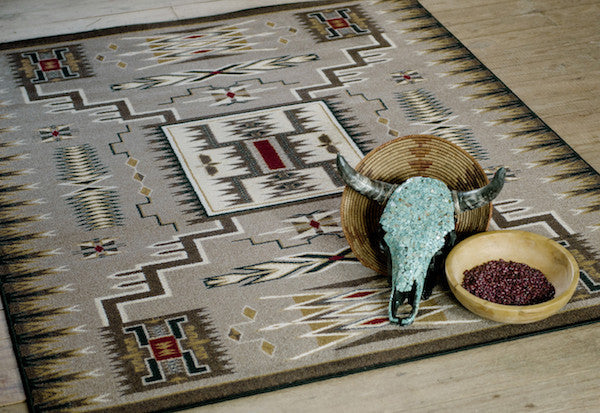 Santa Fe Vista Rustic Lodge Rug Collection | The Cabin Shack