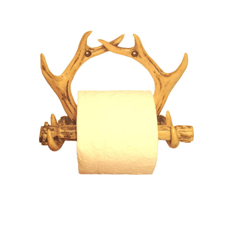 Cabin Decor - Antler Toilet Paper Holder - The Cabin Shack