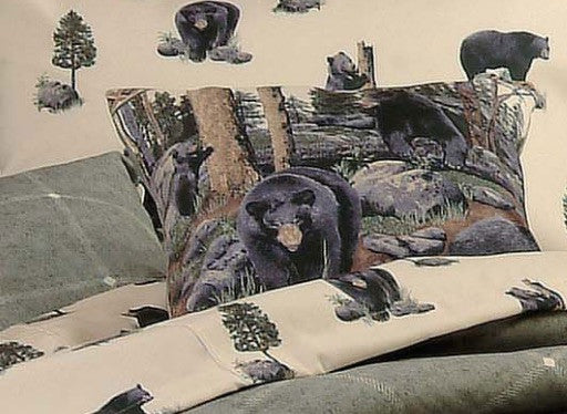The Bears Throw Pillow | Rustic Bedding | The Cabin Shack