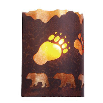 Rustic Lighting | A Bear Was Here Wall Sconce | The Cabin Shack