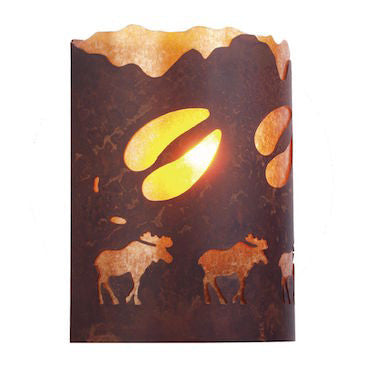 Rustic Lighting | A Moose Was Here Wall Sconce | The Cabin Shack