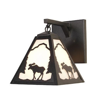 Rustic Lighting | Moose Hanging Sconce | The Cabin Shack