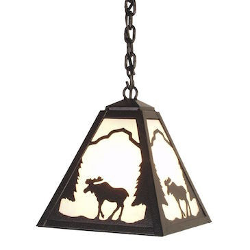 Rustic Lighting | Timber Ridge Moose Pendant | The Cabin Shack