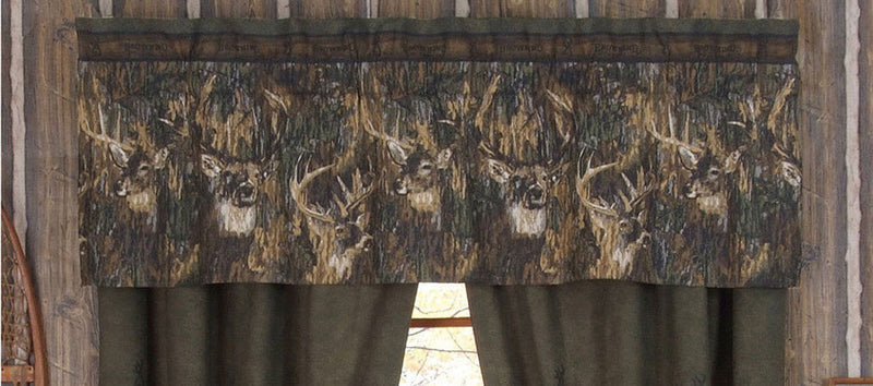 Cabin Decor - Browning Whitetails Valance - The Cabin Shack