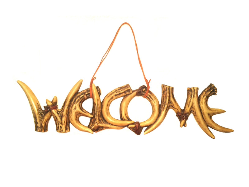 Cabin Decor - Antler Welcome Antler Sign - The Cabin Shack