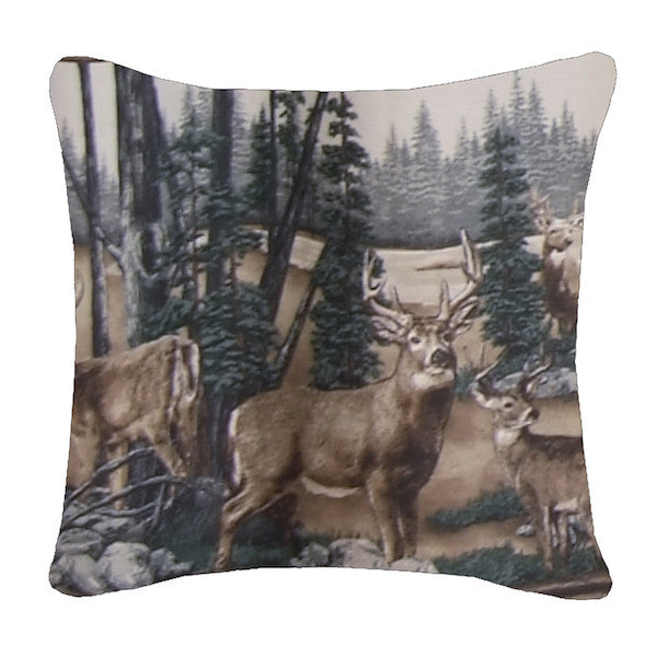 Whitetail Dreams Throw Pillow | The Cabin Shack