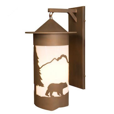 Rustic Lighting | Pasadena Bear XL Hanging Sconce | The Cabin Shack