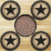 Cabin Decor - Western Star Coasters & Basket - The Cabin Shack