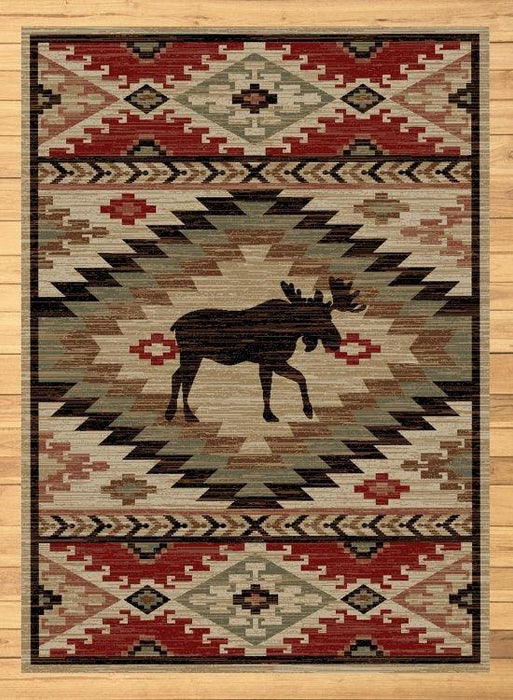 Autumn Moose Rug Rug | The Cabin Shack