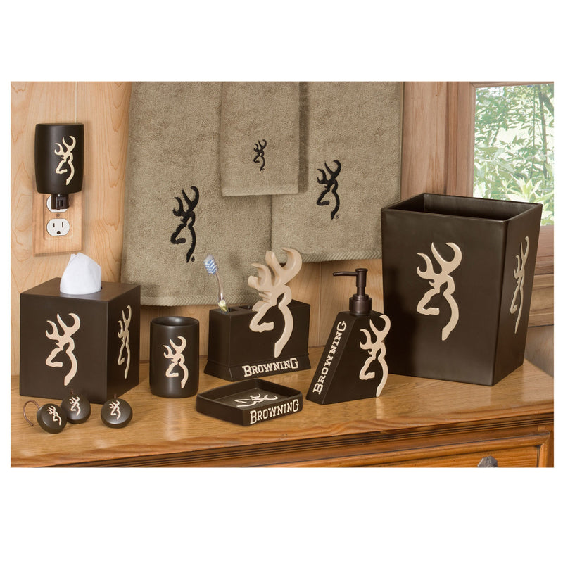 Cabin Decor - Browning Buckmark - Complete Bathroom Set - The Cabin Shack