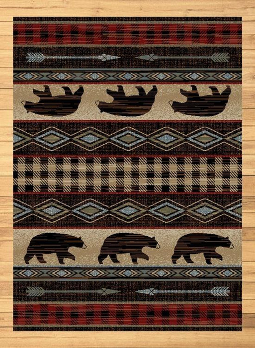 Bear Lodge Red Rug | The Cabin Shack