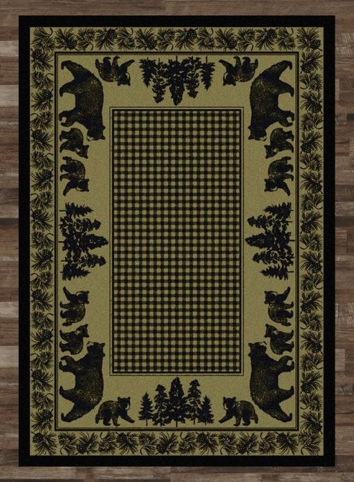 Bear Meadows Green Rug | The Cabin Shack