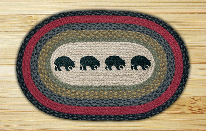 Cabin Rugs | Family of Bears Jute Rug | The Cabin Shack