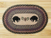 Cabin Rugs | Black Bear Pinecone Rug |The Cabin Shack