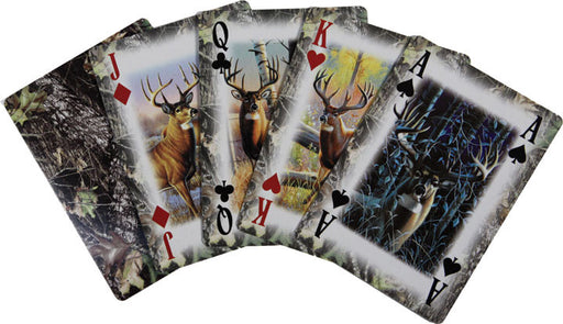 Cabin Decor - Mossy Oak Deer Camo Deck of Cards - The Cabin Shack