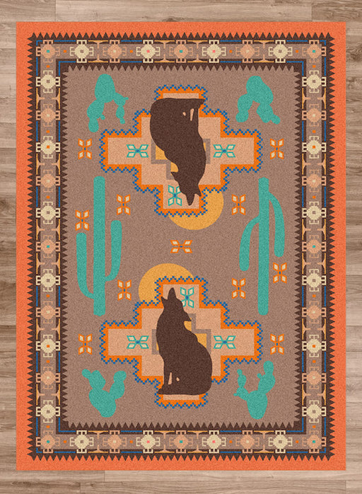 Desert Wolf Rug | The Cabin Shack