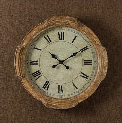 Cabin Decor - Distressed Wood Clock - The Cabin Shack