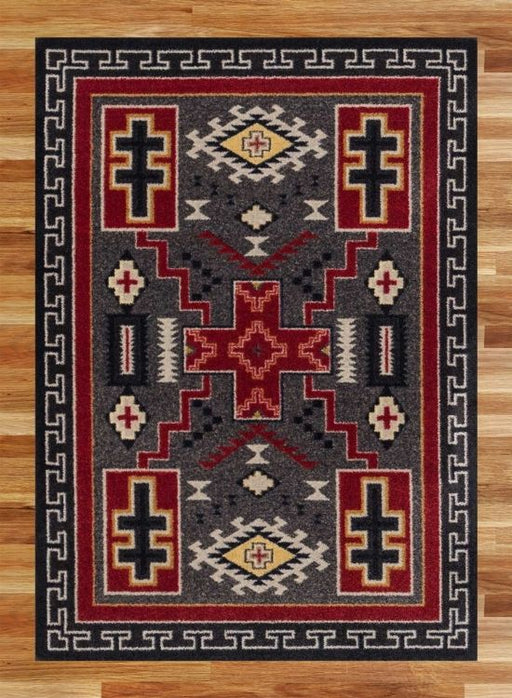 Double Cross Gray Rug | The Cabin Shack