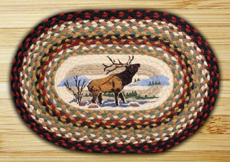 Winter Elk Printed Placemat - The Cabin Shack