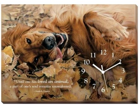 Golden Retriever Clock | The Cabin Shack