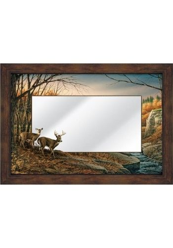 Indian Summer Deer Mirror | The Cabin Shack