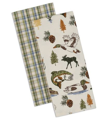 Cabin Decor - Lakewood Dishtowel - Set of 2 - The Cabin Shack
