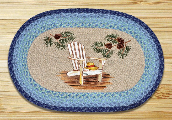 Cabin Rugs | Lake Chair and Pinecone Jute | The Cabin Shack