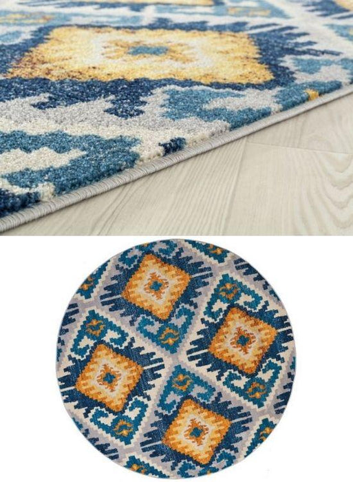 Monica Blaze Rug Pile and Round | The Cabin Shack