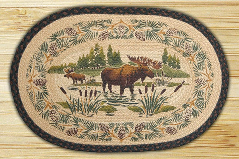 Cabin Rugs | Moose Wading Jute Rug | The Cabin Shack