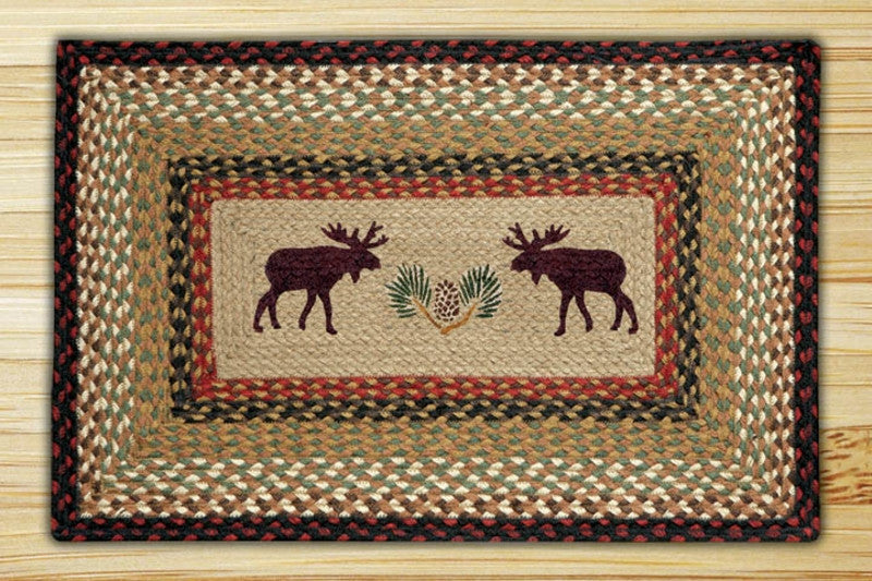 Cabin Rugs | Moose & Pinecone Square Rug | The Cabin Shack
