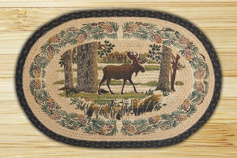 Cabin Rugs | Moose Forest Jute Rug | The Cabin Shack