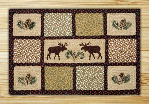 Cabin Rugs | Moose Love and Pinecone Rug | The Cabin Shack