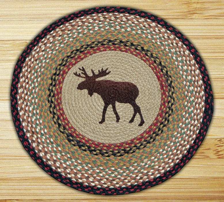 Cabin Decor - Cabin Rugs | Moose Trails Round - The Cabin Shack