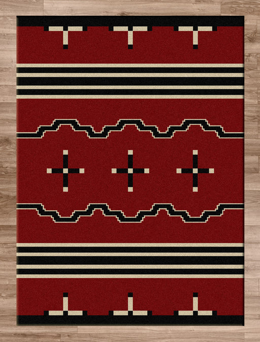 Native Cross Red Rug | The Cabin Shack