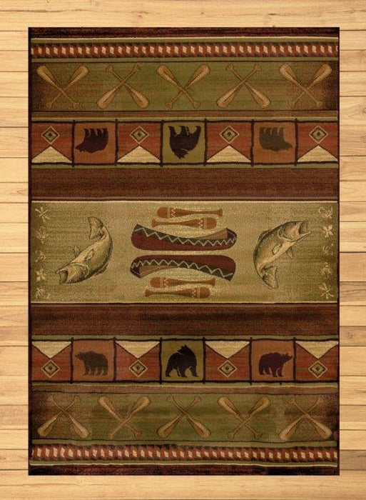 Paddle Fish Rug | The Cabin Shack