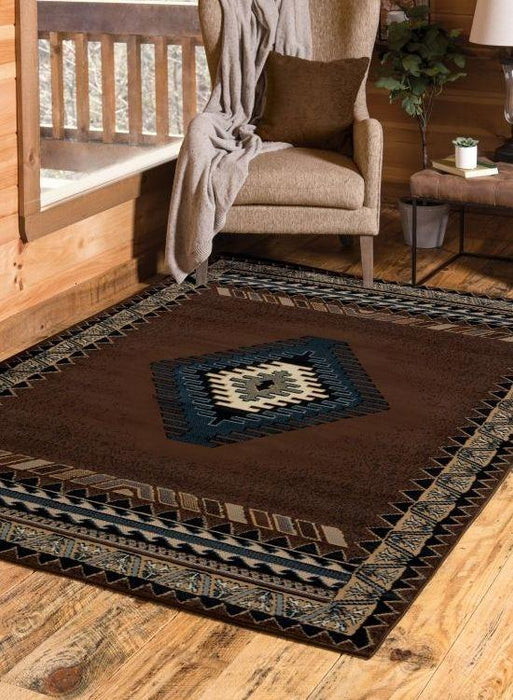 Phoenix Brown Rug | The Cabin Shack
