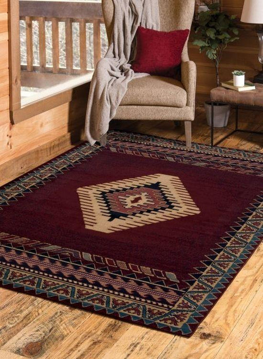 Phoenix Burgundy Rug | The Cabin Shack