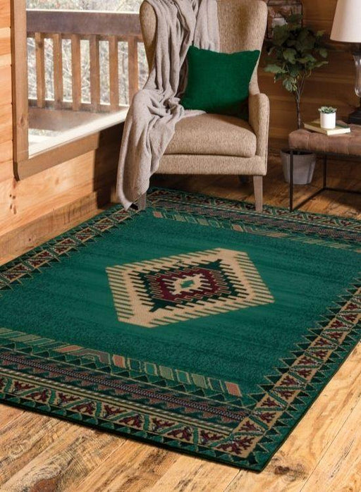 Phoenix Green Rug | The Cabin Shack