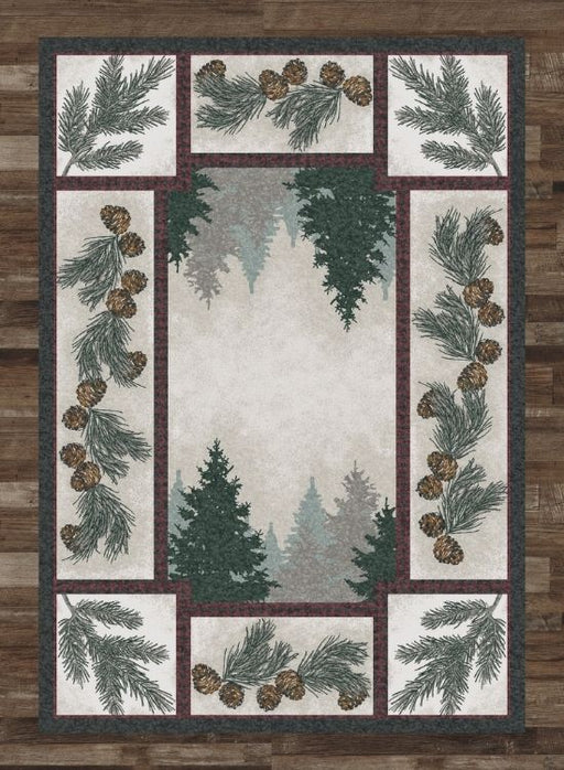 Pine Forest Rug | The Cabin Shack
