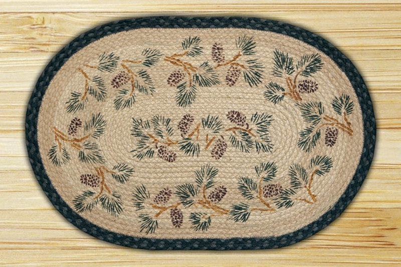 Cabin Decor - Pinecone Hand Printed Rug - The Cabin Shack