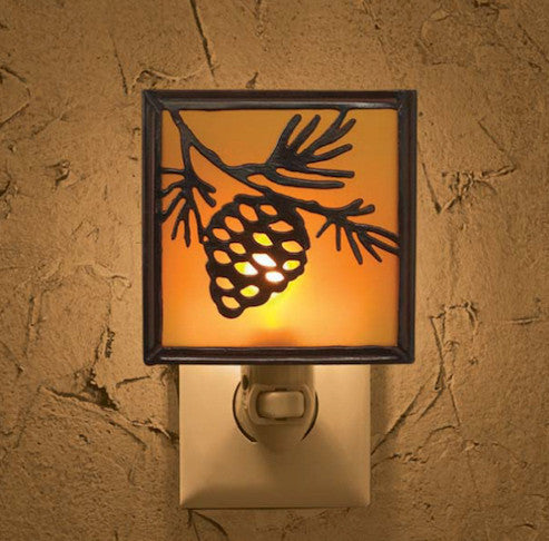 Cabin Decor - Pinecone Night Light - The Cabin Shack