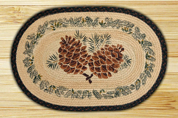 Cabin Rugs | Pinecone Connection Rug | The Cabin Shack