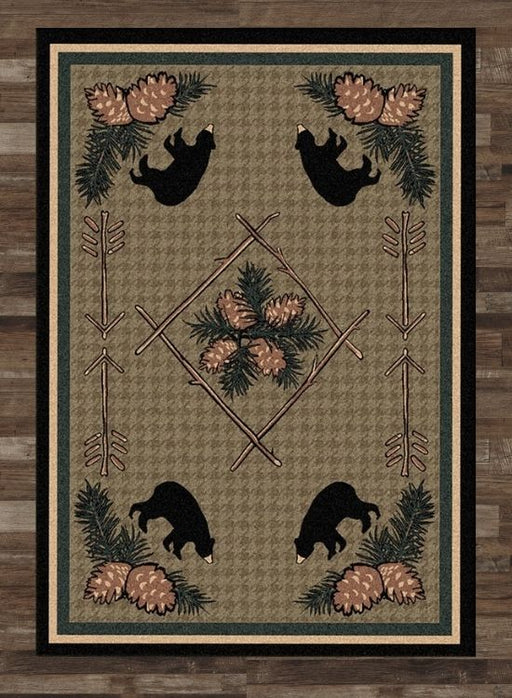 Pinewood Bear Rug | The Cabin Shack