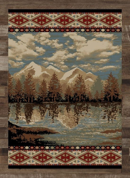 Reflection Lake Rug | The Cabin Shack