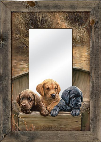 Retriever Triplets Mirror | The Cabin Shack