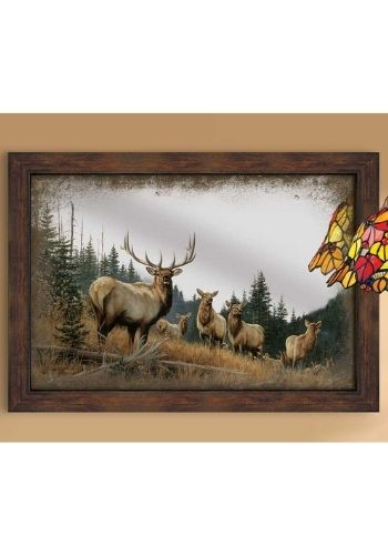 Royal Mist Elk Mirror | The Cabin Shack