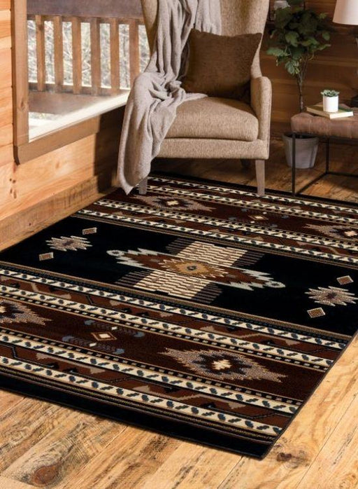 Sedona Black Rug | The Cabin Shack