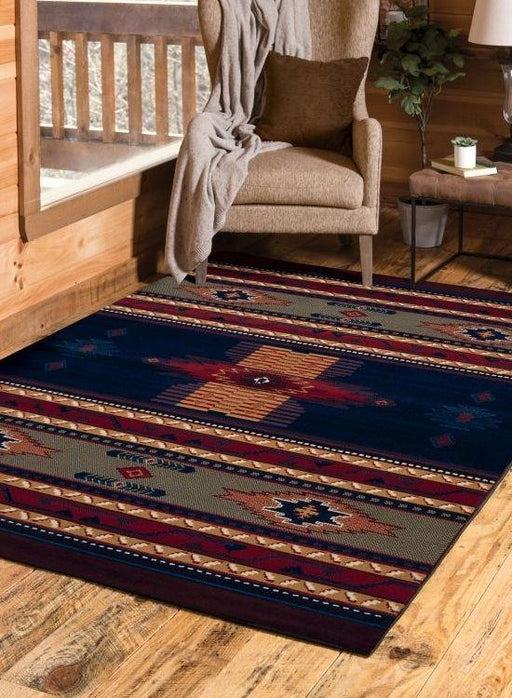 Sedona Blue Rug | The Cabin Shack