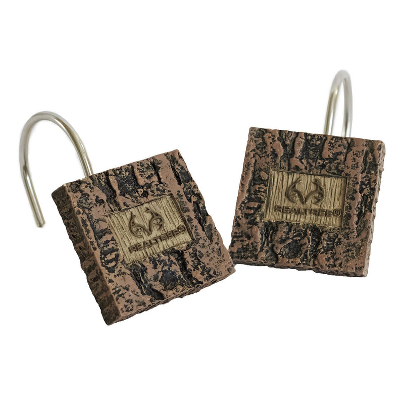 Cabin Decor - Realtree Xtra Shower Hooks for Cabin Bathroom