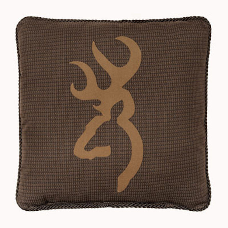 Cabin Decor - Browning Oak Tree Brown Throw Pillow - The Cabin Shack